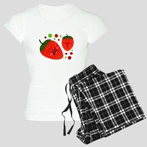 Cute Strawberries Women's Light Pajamas