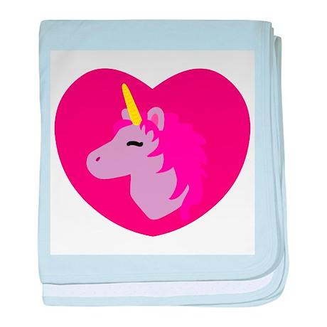 Pink Unicorn baby blanket