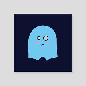 "ghostypantsgreetingcard Square Sticker 3"" x 3"""