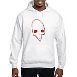 SKULL 001 RED Hooded Sweatshirt