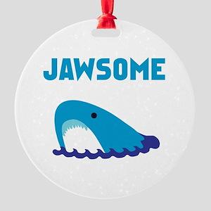 Jawsome Shark Round Ornament