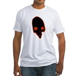 SKULL 001 RED Fitted T-Shirt