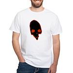 SKULL 001 RED White T-Shirt