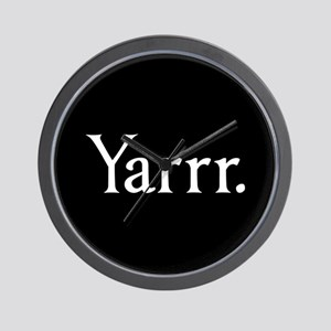 Yarrr Pirate Wall Clock