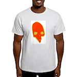 SKULL 001 RED Ash Grey T-Shirt