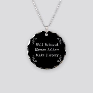 Well Behaved Necklace Circle Charm