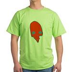 SKULL 001 RED Green T-Shirt