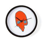 SKULL 001 RED Wall Clock