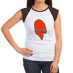SKULL 001 RED Women's Cap Sleeve T-Shirt