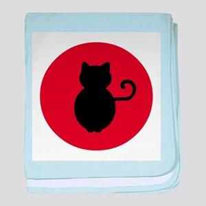 Cat Signal Silhouette baby blanket