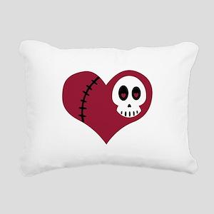 Skull Heart Rectangular Canvas Pillow