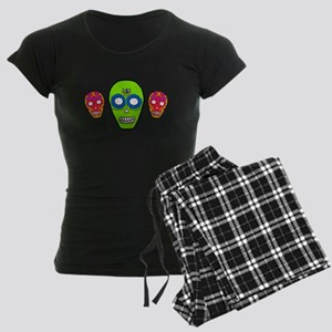 Calaveras Sugarskulls Women's Dark Pajamas