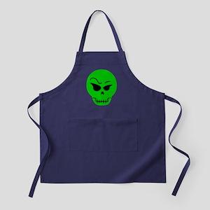 Green Skull Apron (dark)