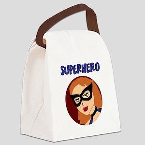Retro Superhero Betty Canvas Lunch Bag