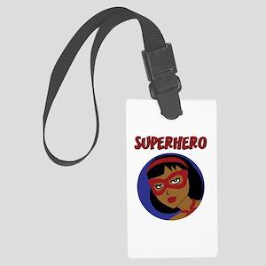 Retro Superhero Julie Large Luggage Tag