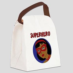 Retro Superhero Julie Canvas Lunch Bag
