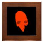 SKULL 001 RED Framed Tile