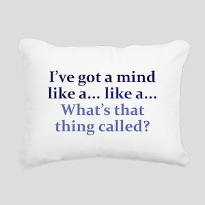 Mind like a... Rectangular Canvas Pillow