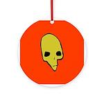 SKULL 001 RED Ornament (Round)
