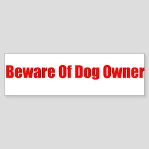 Beware of Dog Owner Sticker
