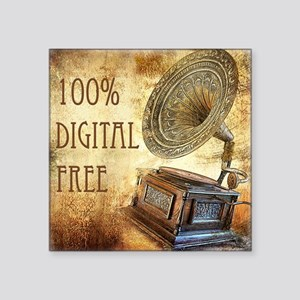 "100% Digital Free! Square Sticker 3"" x 3"""