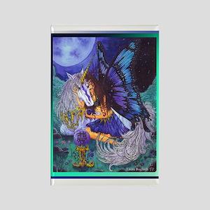 Unicorn Garden Rectangle Magnet (10 pack)