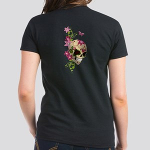 2-sided Sugar Skull Women's Dark T-Shirt