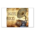 Digital Sucks! Sticker (Rectangle)