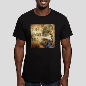 100% Digital Free! Men's Fitted T-Shirt (dark)