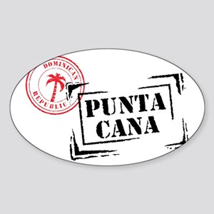 Punta Cana Passport Stamp Rectangle Sticker