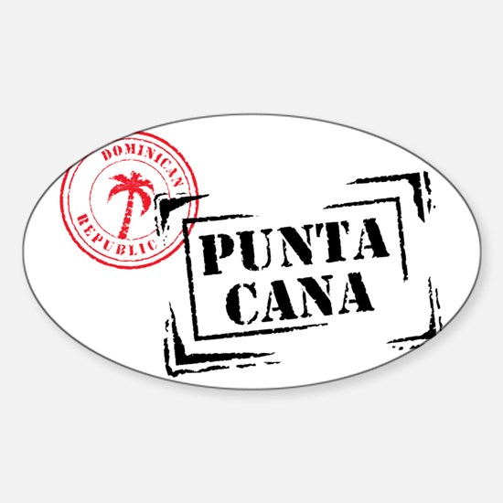 Punta Cana Passport Stamp Rectangle Decal