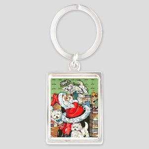 Santa's Little Helpers Portrait Keychain