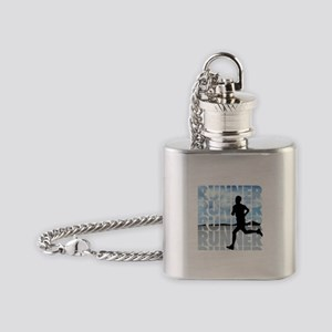 runner Flask Necklace