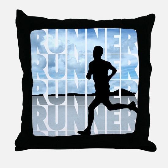 runner.png Throw Pillow