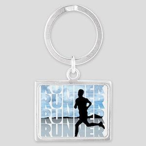 runner Landscape Keychain