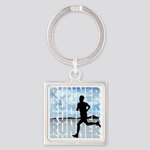 runner Square Keychain