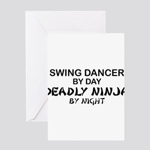 deadly ninja Greeting Cards