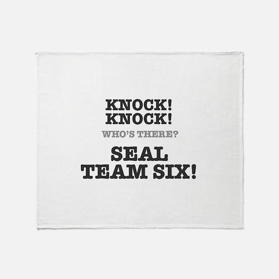 KNOCK KNOCK - SEAL TEAM SIX Throw Blanket