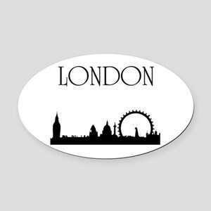 London Oval Car Magnet