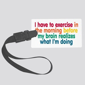 Early Morning Exercise Large Luggage Tag