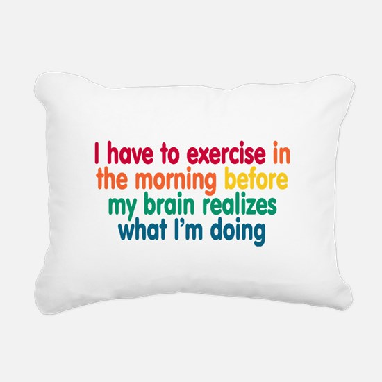 Early Morning Exercise Rectangular Canvas Pillow