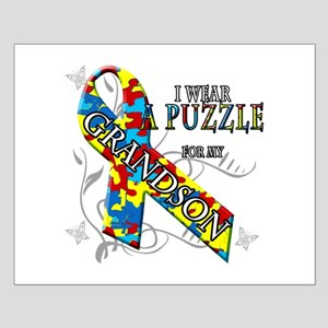 I Wear A Puzzle for my Grandson Posters