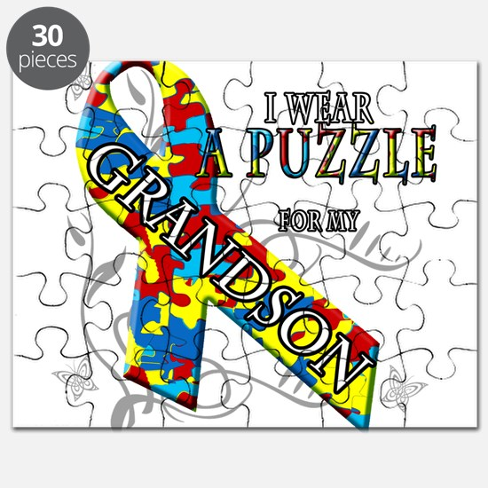 I Wear A Puzzle for my Grandson Puzzle