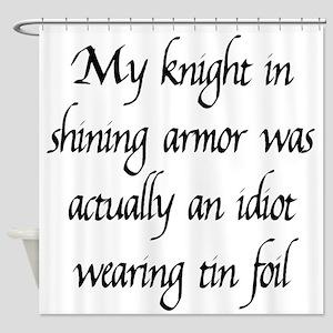 Knight in Shining Armor Shower Curtain