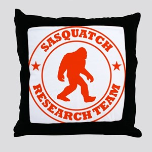 Sasquatch Research Team Throw Pillow