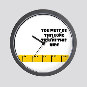 Ruler Long to Ride side Wall Clock
