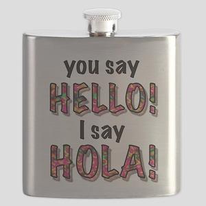 you say hello i say hola, gifts Flask