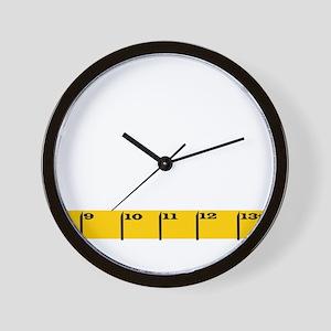 Ruler plain Wall Clock