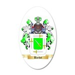 Barbet 20x12 Oval Wall Decal