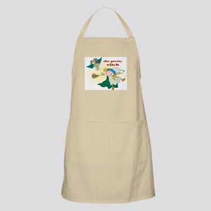 Witch with Crow BBQ Apron